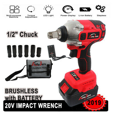 1 2 Inch Impact Wrench Cordless Set Battery 18v 20v Craftsman High Torque