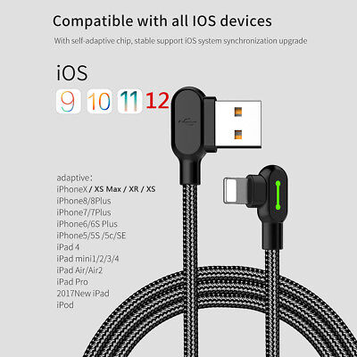 AU8.79 • Buy MCDODO 90 Degree Right Angle USB Charger Lightning Cable Apple IPhone IPod IPad