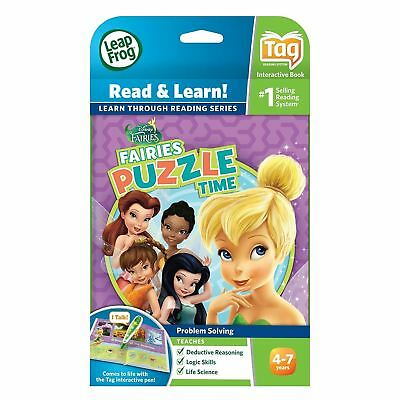 £10.99 • Buy Leapfrog Tag Disney Fairies Puzzle Time Leapreader Game Book