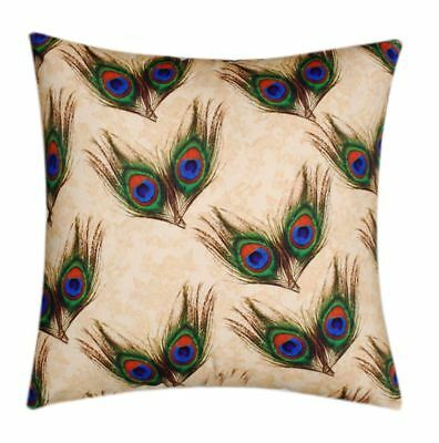 Peacock Feathers Animal Print Theme 18 X 18 Cushion Cover For Sofa, Bed Couch  • 7.99£