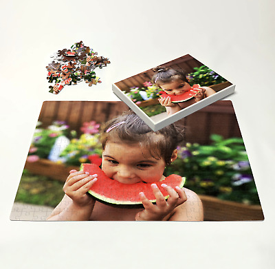 £9.99 • Buy Personalised Jigsaw Puzzle In Box Flat Or Frame Custom Photo Image Printed Gift