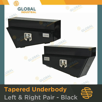 AU371 • Buy 1 X Pair Of BLACK Steel Tapered Under Body Under Tray Ute 4x4 Tool Boxes TB0052