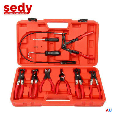 AU49.95 • Buy Hose Clamp Clip Pliers Kit 9-Piece Set Swivel Jaw Flat Angled Automotive Tool