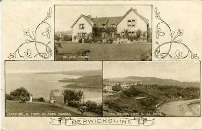Printed Multiview Postcard Of Berwickshire, Scotland By A. R.edwards • 8£