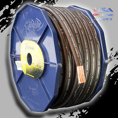 AU98.62 • Buy 0 Gauge 20 Ft. BLACK Power OFC Wire Strands Copper FLAT  Marine Cable 1/0 AWG US