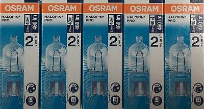 Pack Of 5 Osram 33W = 40W G9 2pin Halopin Halogen Capsule Clear Dimmable Bulb • 12£
