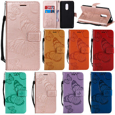 AU1 • Buy Embossed Patterned Butterfly Flip PU Leather Card Pocket Strap Case Lot Cover K2