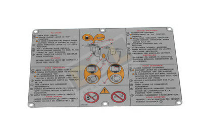 Fuel Tank Instruction Label 0085656 Fits Wacker BS45Y BS52Y BS65Y Trench Rammer  • 5.99£