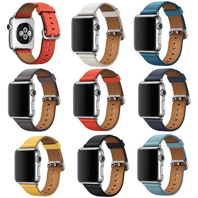 AU12.30 • Buy Apple Watch Leather Band Strap Bracelet Buckle Genuine Leather Series 5/4/3/2/1