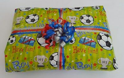 £15.99 • Buy BOYS FOOTBALL Pass The Parcel 10 Or 15 Layers +main Prize Party Games Ready Made