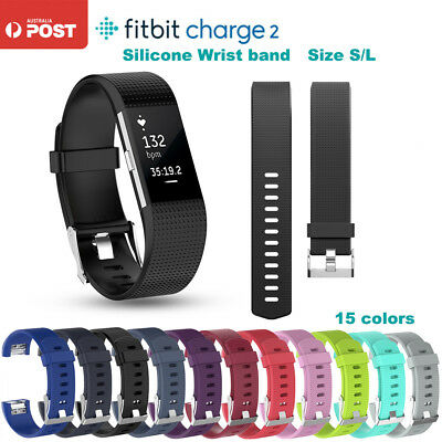 AU5.56 • Buy Silicone Watch Band Wrist Sports Band Strap For Fitbit Charge 2 Wrist Band 15col