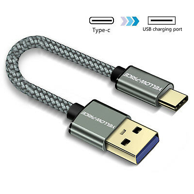 AU11.99 • Buy 15cm 90cm Braided Type C To USB Type A 3.1 Short 3A USB-C Male Data Cable S8 S9