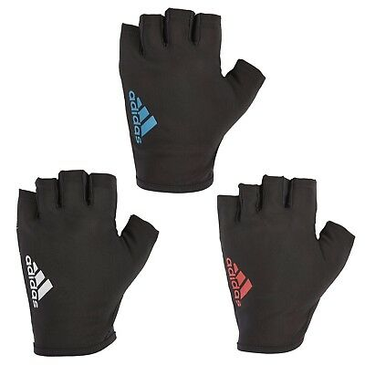 £8.99 • Buy Adidas Half Finger Essential Weight Lifting Gloves Training Gym Exercise Fitness
