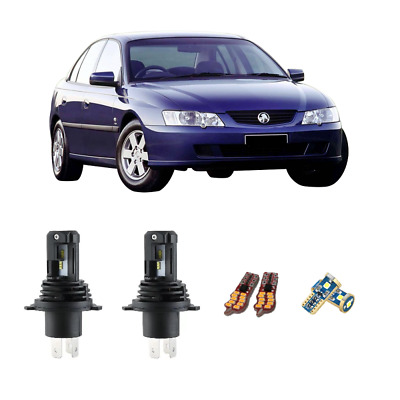 AU97.05 • Buy For Holden Commodore VT VX VY VZ LED Hi Low Beam Headlights Conversion Kit