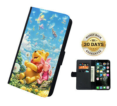 AU16.99 • Buy Winnie The Pooh Piglet Leather Flip Case Samsung IPhone And Huawei Cover Wallet
