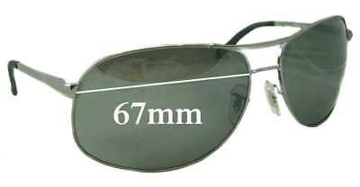 d6ee9a8c39332c SFx Replacement Sunglass Lenses Fits Ray Ban RB3387 - 67mm Wide • 48.23