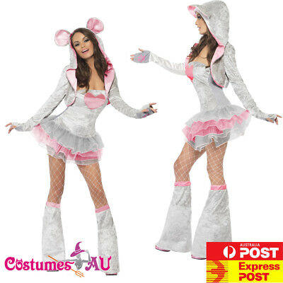 £12.29 • Buy Ladies Fever Sexy Mouse Costume Animal Jungle Zoo Party Rat Womens Fancy Dress