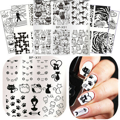 $0.98 • Buy BORN PRETTY Nail Stamping Plate Nail Art Stamp Stencil Template DIY Tool