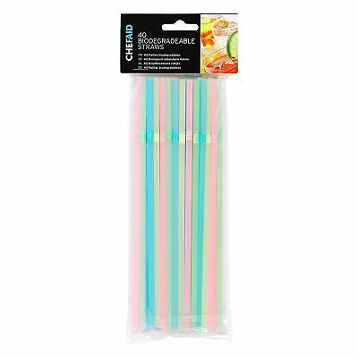 £1.99 • Buy Chef Aid BioDegradable Straws - Assorted Colours - Choose Desired Quantity
