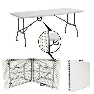 £48.69 • Buy 1.8 Meter 6FT CATERING CAMPING HEAVY DUTY FOLDING TABLE TRESTLE PICNIC PARTY BBQ