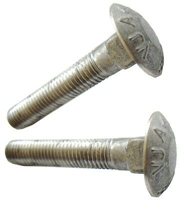 $26.35 • Buy A4-80 M12 X 70mm HIGH-TENSILE MARINE GRADE STAINLESS STEEL COACH BOLT