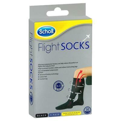 AU33.21 • Buy Scholl Flight Compression Socks Black Size 9-12 (M9-12) Men Sock