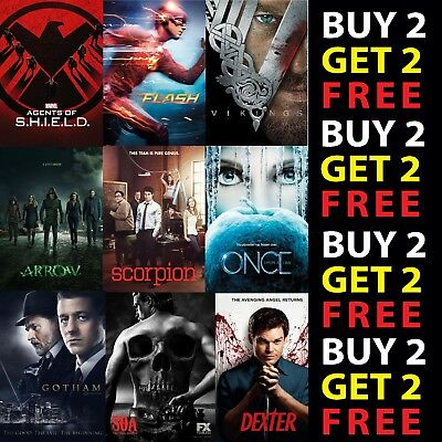 BEST TV SERIES POSTERS A3 A4 Card Or Metal Plaque Show Print Home Wall Art Decor • 7.25£