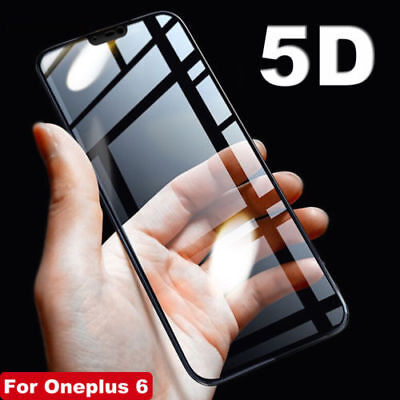 AU5.99 • Buy 5D Full Coverage Tempered Glass LCD Screen Protector For OnePlus 3 3T 5 6 6T