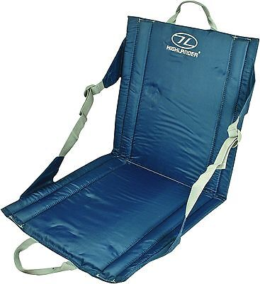 £11.90 • Buy OUTDOOR WATERPROOF SEAT Back Support Blue Camping Fishing Picnic Beach Chair