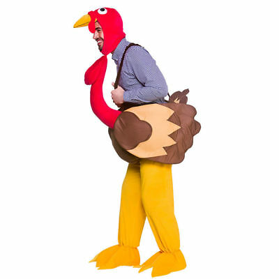 Adult Ride On TURKEY Fancy Dress Costume Bird Party Christmas Stag Ladies Mens • 41.90£