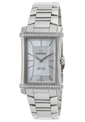 Eterna 2410-48-66-0264 Women's Diamond Contessa Stainless Steel White Mop Watch • 842.97£