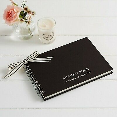 £14.99 • Buy A5 Luxury Black Memory Condolence Book For Funeral Or Celebration Of Life