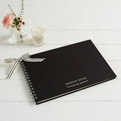 £17.99 • Buy A4 Luxury Black Memory Condolence Book For Funeral Or Celebration Of Life