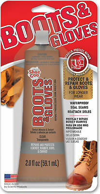 $7.39 • Buy Boots & Gloves Shoe Goo Glue Adhesive Clear Seal Seams Reattach Soles 2 Oz