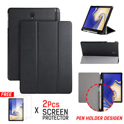 AU17.99 • Buy For Samsung Galaxy Tab S4 10.5  Smart Leather Stand Case Cover With Pen Holder