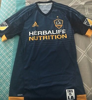 purchase cheap 1c696 22877 MLS LA Galaxy Giovani Dos Santos Adidas 2015 16 Away Authentic Jersey -  Size S