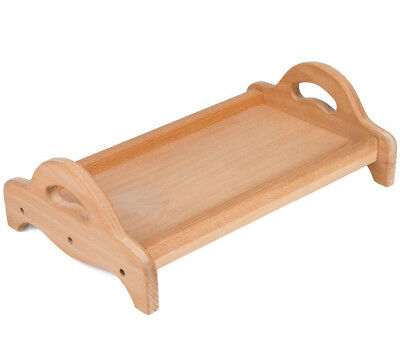 $19.95 • Buy Bed Breakfast Table Wooden Serving Tray With Two Handles Beech Wood