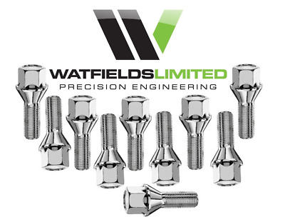 $29.43 • Buy M12 X 1.5 Tapered Wheel Bolts Extended Thread Length