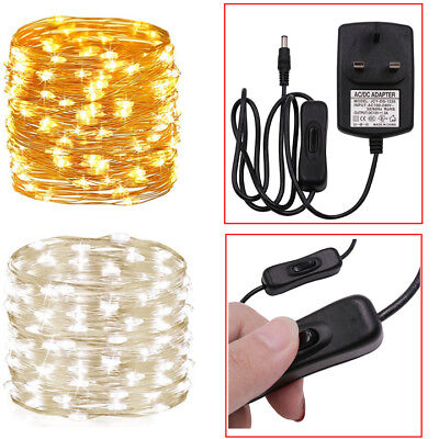 10/20/30M Fairy Lights Colorful LED String Wedding Party Garden Christmas Decor • 7.99£