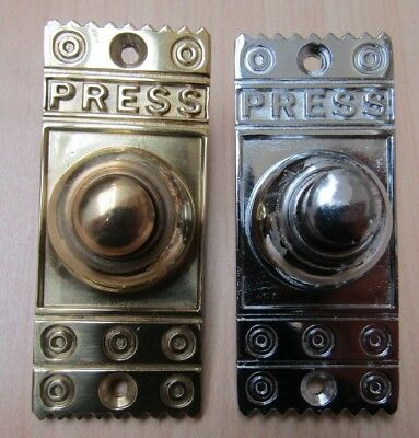 Solid Brass Old Vintage Style Front Door Bell Push Door Bell Push Wired  • 7.95£
