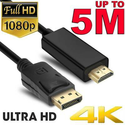 AU8.45 • Buy Displayport DP To HDMI Cable Male To Male Full HD 1080P High Speed Display Port