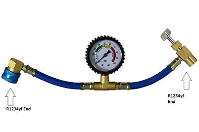 £17.70 • Buy R1234yf Charging Hose With R1234yf Can Tap With Gauge - Brass #3605