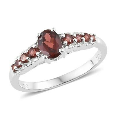 $12.99 • Buy 925 Sterling Silver Garnet Fashion Ring Mothers Day Gifts Jewelry Ct 1.2