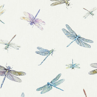 Clarke And Clarke Dragonflies Cream Cotton PVC WIPE CLEAN Tablecloth Oilcloth • 6.99£