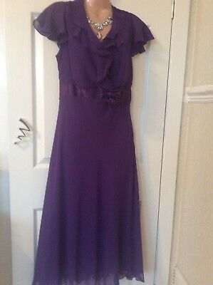 £19.99 • Buy British Home Store Special Collection Purple Dress Size 12 Vgc Hols 5/6 To 15/6