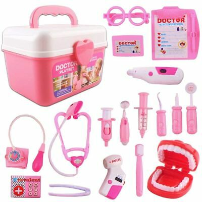 DeAO 2in1 Children's Nurse Doctor And Dentist Carrycase Playset 16 Accessories • 10.99£