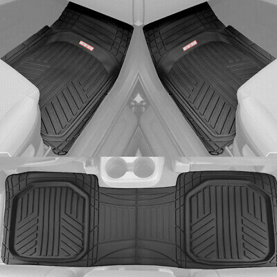 $33.90 • Buy Waterproof TriFlex Rubber Floor Mats For Car Van SUVs Truck W/ Rear Liner Black