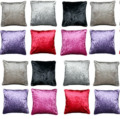 £12.75 • Buy Crushed VELVET Cushion Covers Only Or With Filling Floor Cushions 18 ,24 ,30 48