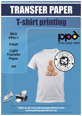 AU12.28 • Buy PPD A4 T Shirt Transfer Paper X 10 Sheets Only £6.89 Free P&P