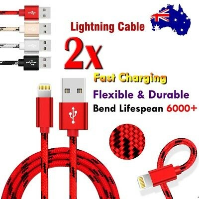 AU7.99 • Buy 2X USB 8 Pin Cable Fast Charger Cord For IPhone 8 7 6 Plus XR X XS 11 12 Pro Max